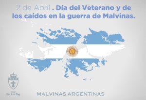 Día del veterano y caídos en la guerra de Malvinas.