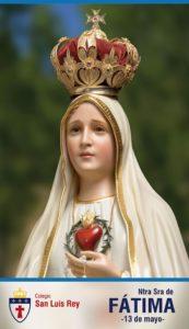 13 de mayo, conmemoración de la aparición de Nuestra Señora de Fátima!!
